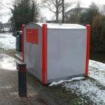 Misplaatste afvalcontainer